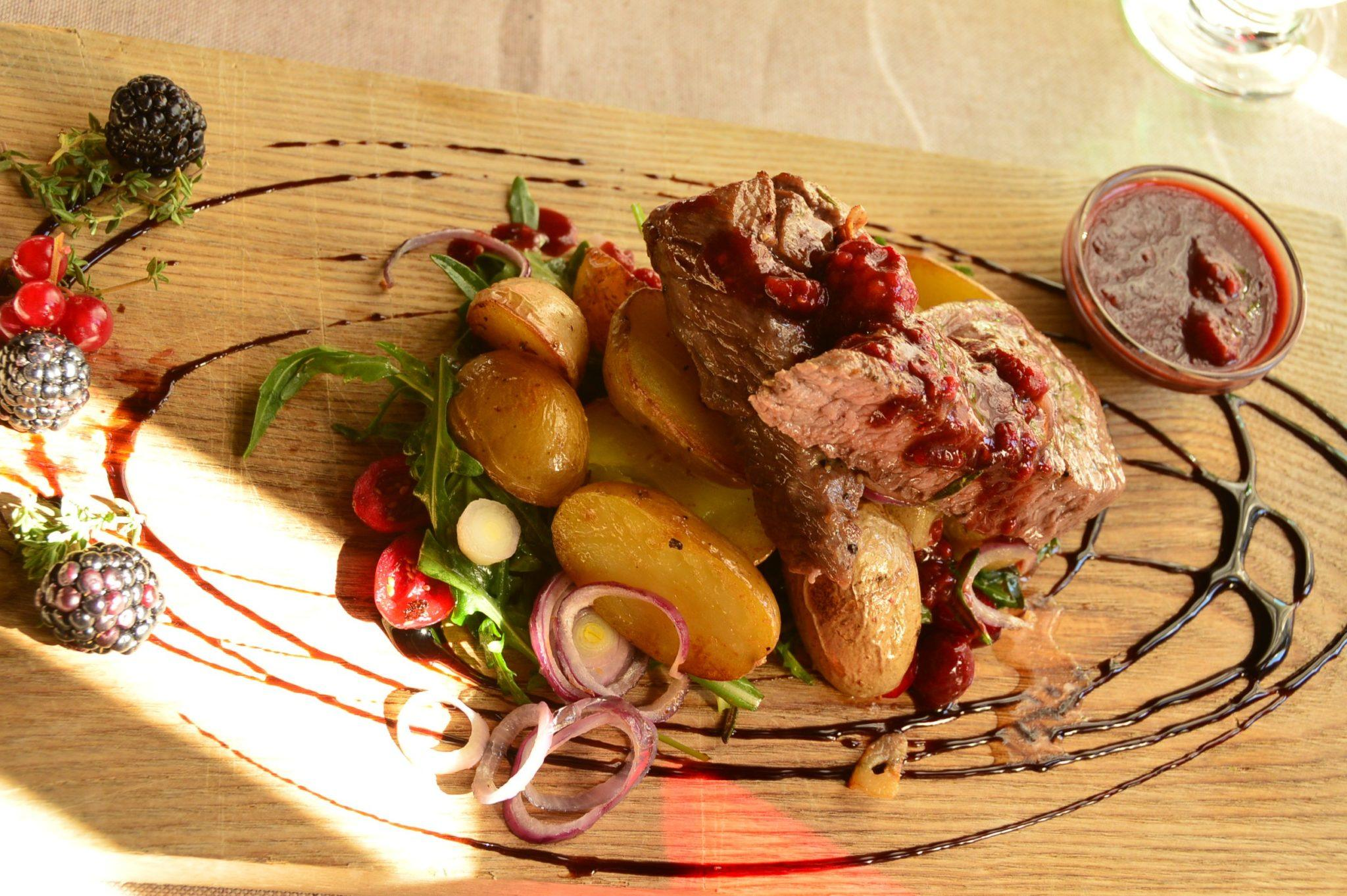 Lamb dish at Maja restaurant Riga Latvia