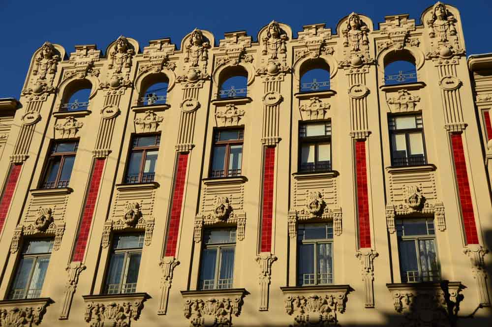 Lovely Art Nouveau Building in Riga