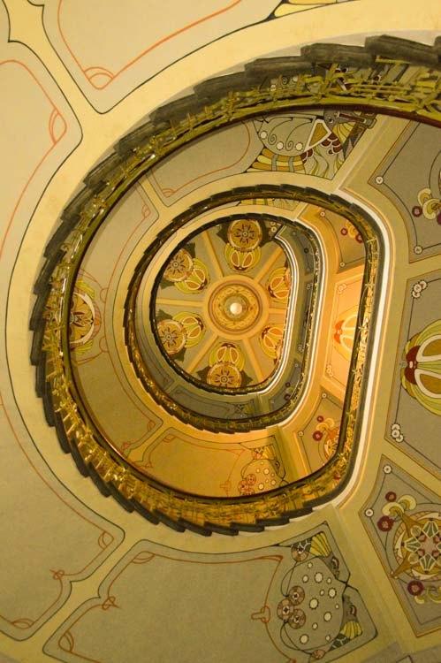 Wonderful ceiling at Art Nouveau Museum