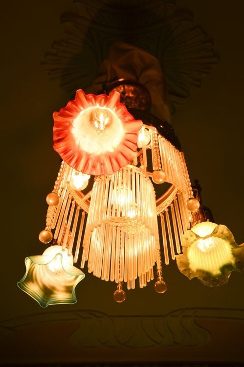 Light fitting at Art Nouveau Museum