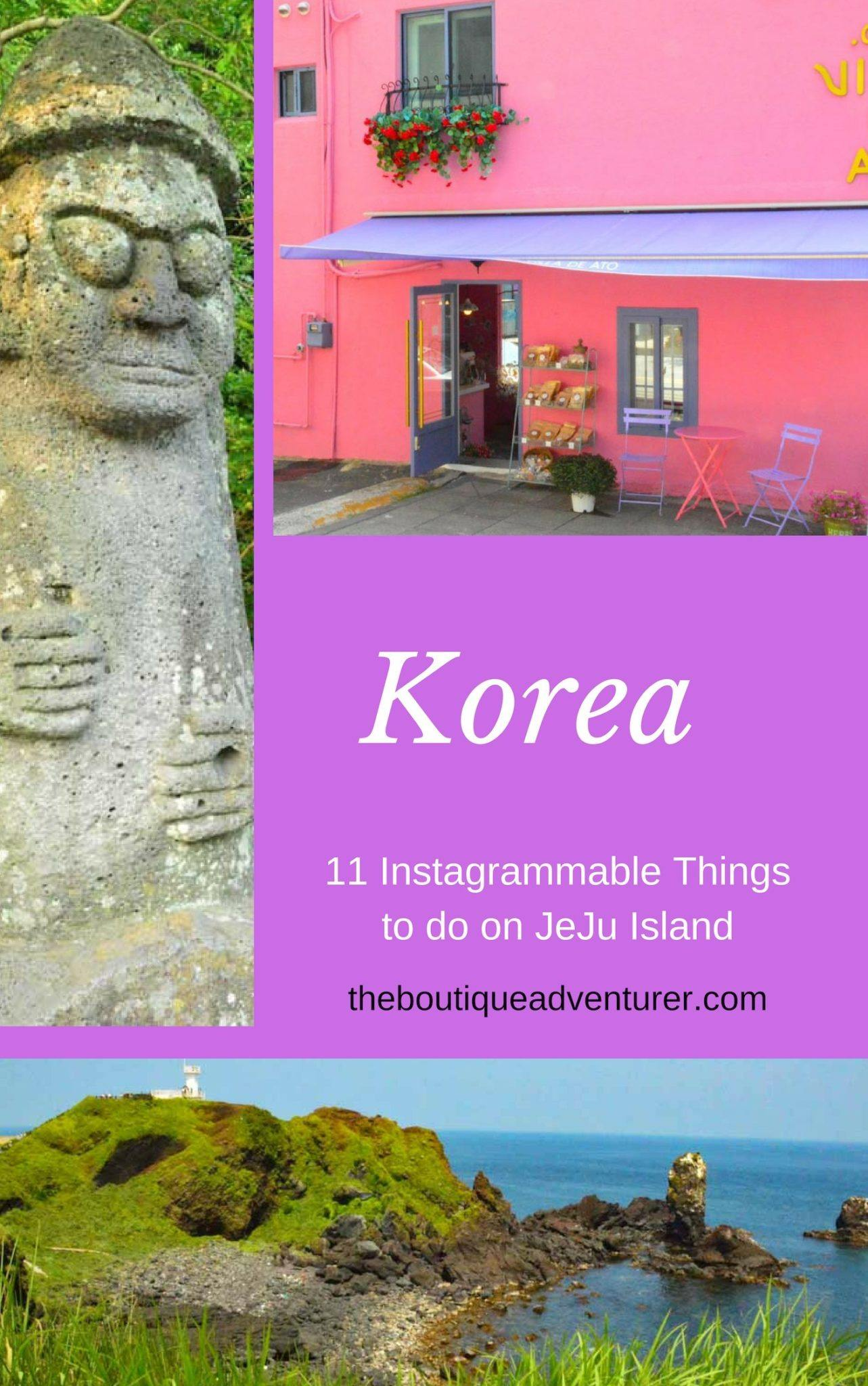Here are the 11 Most Instagrammable Things to do in Jeju - from UNESCO listed Seongsan Ilchulbong to Korea's highest mountain Hallasan to Love Land!
