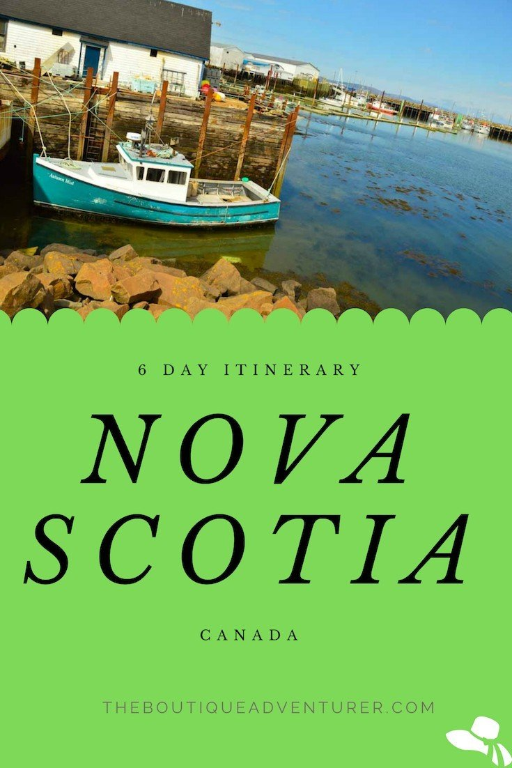 Planning a trip to Nova Scotia? Here is my Nova Scotia Itinerary - 6 days from Halifax to Wolfville to Annapolis to White Point to Lunenburg & Peggy's Cove #novascotia #canada