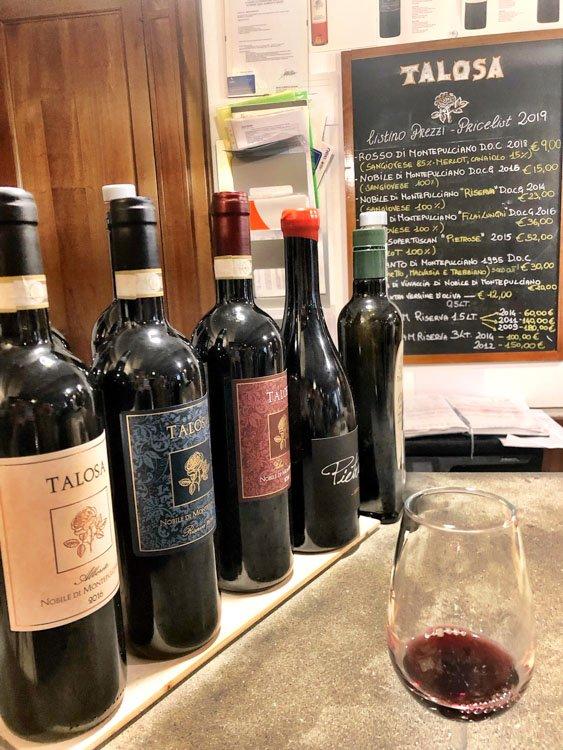 Italy_Montepulciano_talosa-wine-bottles