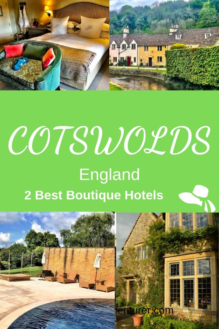 If you are wondering where to stay in the Cotswolds and love boutique hotels here are 2 fantastic options - and places to visit in the Cotswolds nearby #cotswolds #england