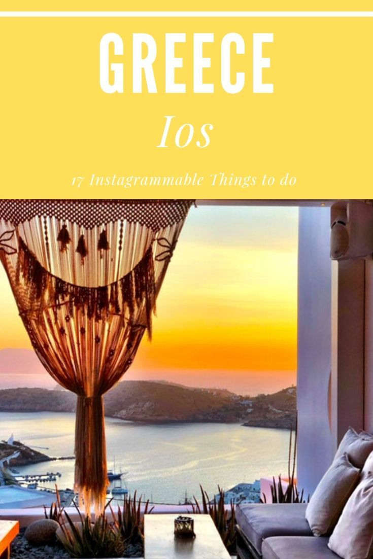 Ios Greece has far more to offer than just shots in its old town Chora! There are boutique hotels, brilliant restaurants and at least 17 Instagrammable Things to do in Ios Greece! #iosgreece #greekislands #greece