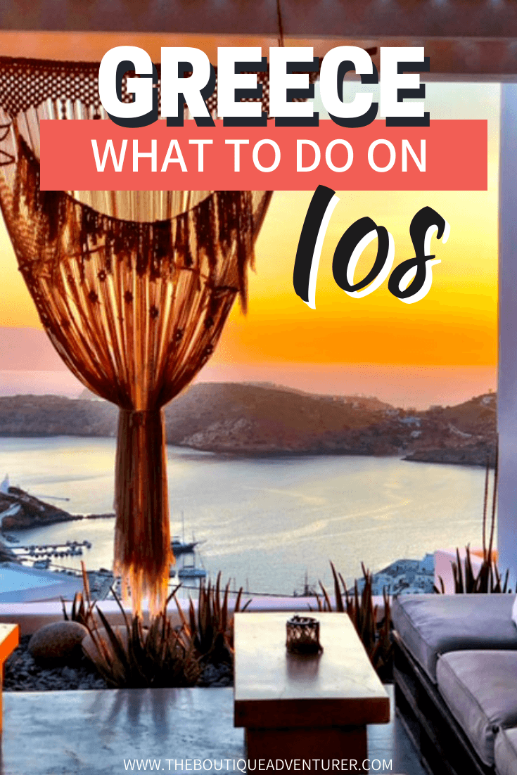 Ios Greece has far more to offer than just shots in its old town Chora! There are boutique hotels, brilliant restaurants and at least 17 Instagrammable Things to do in Ios Greece!