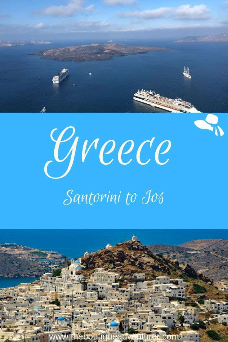 Planning a trip to Ios? Here is my complete guide on how to get from Santorini to Ios and tips on whether to stay in Santorini #iosgreece #greekislands#greece @greciaios #iosisland@loveiosgreece