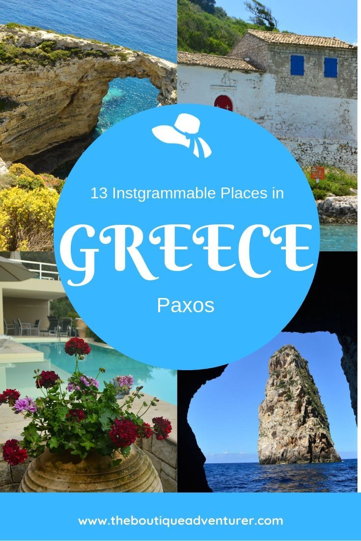 Paxos Greece is the Greek Island of your dreams! Harbours, tavernas, stunning views - it is all here - and here are the 13 most instagrammable things to do in Paxos #greece #paxos #greekislands