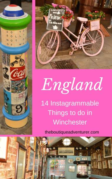 Lovely Winchester is home to stunning architecture, narrow streets, streams & a river, cute pubs plus many other photographic opportunities! 14 Instagrammable Things to do in Winchester #winchester #england