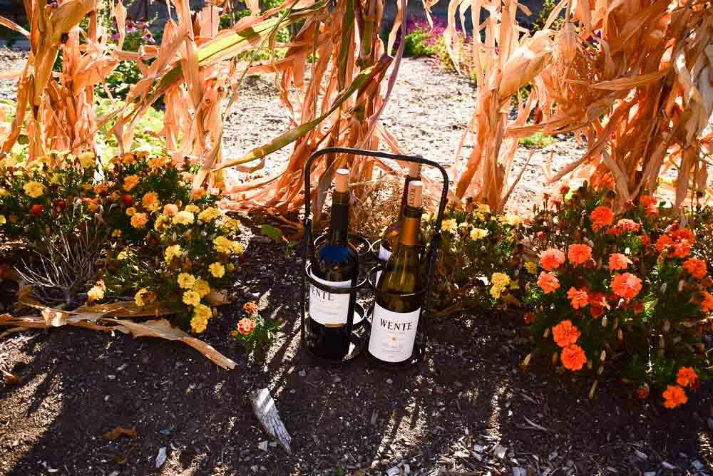 california_livermore_wente-vineyard-bottles-in-garden