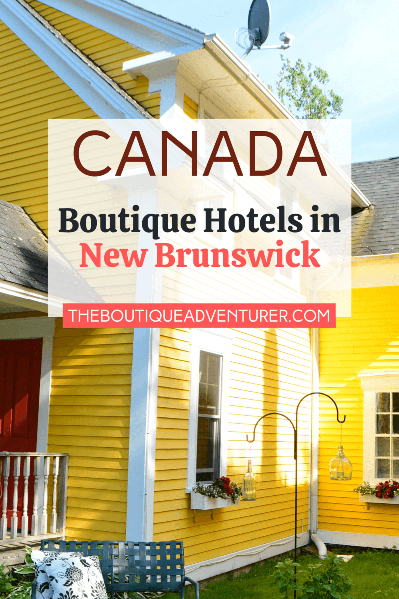 if you are looking for a New Brunswick boutique b&b to base yourself whilst exploring Hopewell Rocks look no further – it must be the gorgeous and rather yellow Maplegrove Inn! The location of this New Brunswick hotel means it is perfectly situated for exploration of this area – a 12-minute drive from Hopewell Rocks, a 20-minute drive from Cape Enrage and a 20-minute drive from Fundy National Park. #hopewellrocks #newbrunswick #newbrunswickhotels