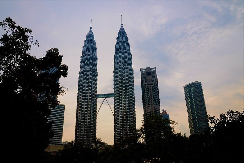 Petronas Twin Towers seen from a distance