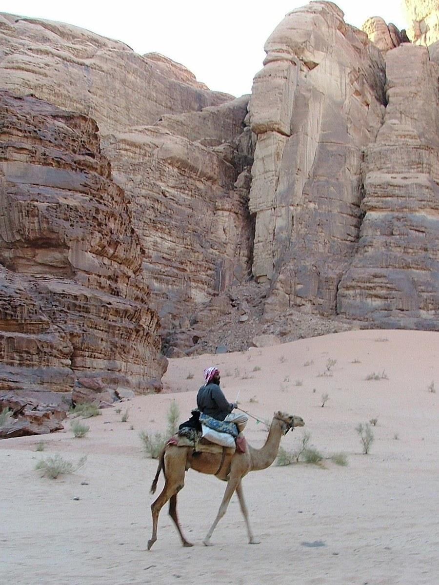 Jordan-petra-man-on-camel