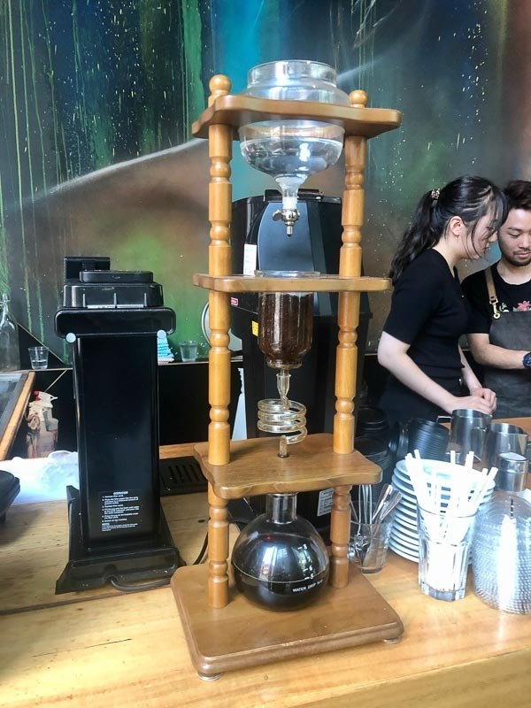 drip coffee machine in coffe shop