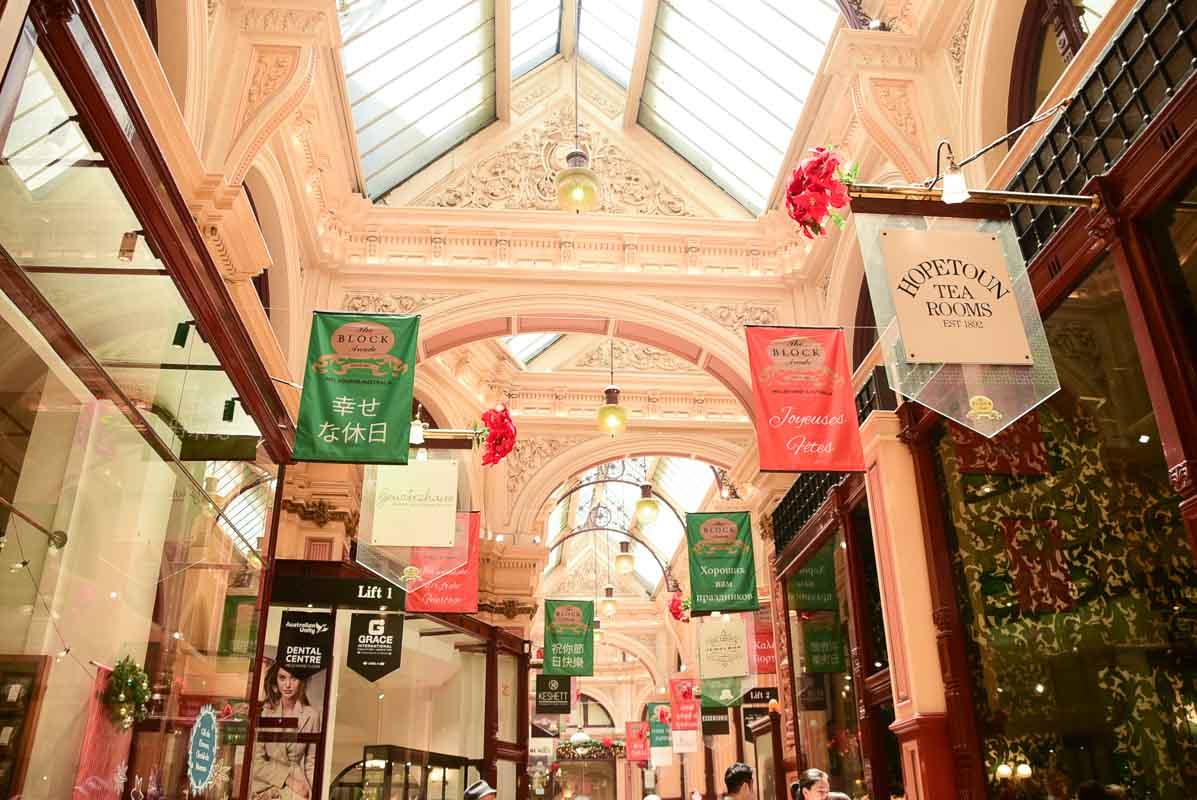 interior of the block arcade melbourne