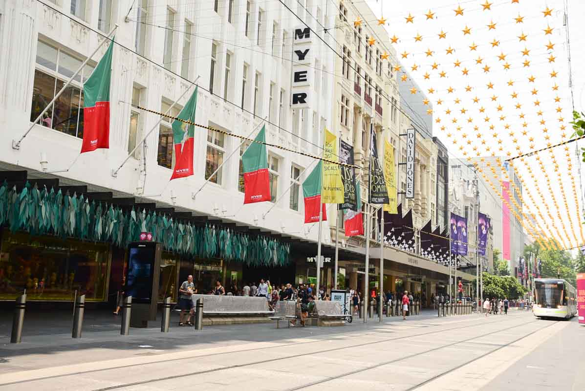 Myer melbourne in the Bourke Street Mall