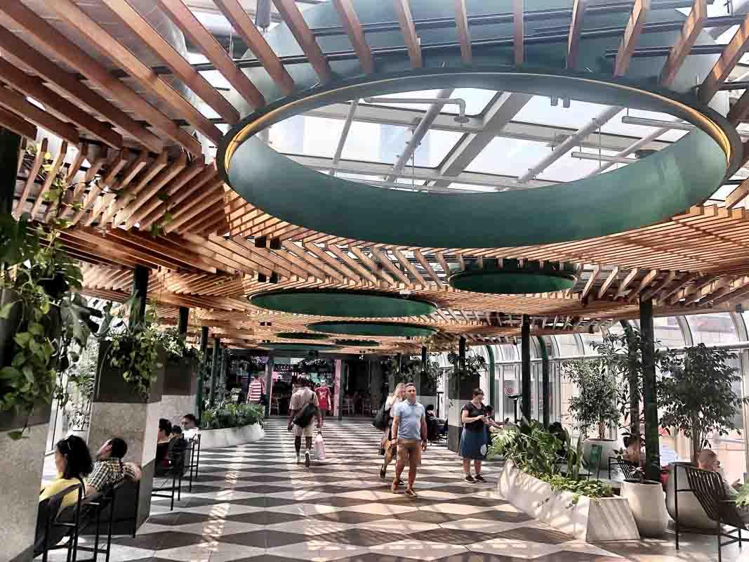 Inside the emporium shopping centre