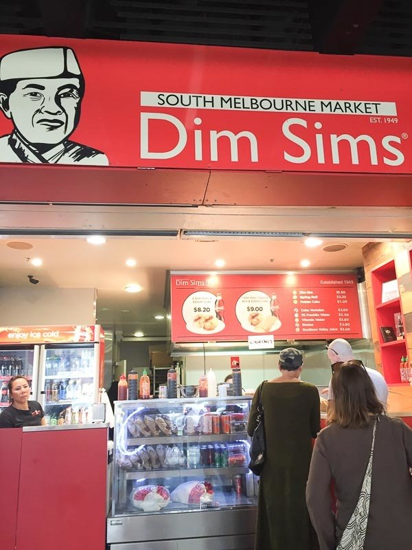 South melbourne market dim sims stall