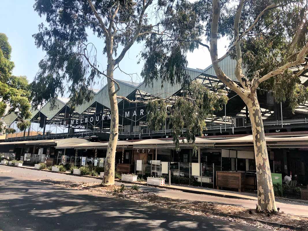 Exterior of south melbourne market