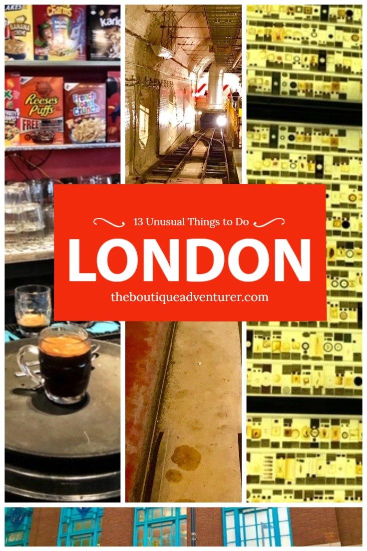 Keen to explore a different side of London? Here are 13 unusual experiences in London - from a cereal killer cafe to flirting to a mad hatter's tea party - all from a local! #london