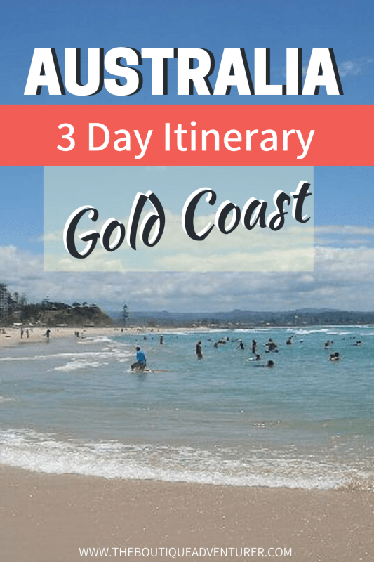 Coolangatta is one of the best-known beaches on the Gold Coast and perfect for adults looking for golden sands, blue water and a decent latte! Read more about Coolangatta and other great things for adults to do in my Gold Coast Itinerary. #goldcoastbeach #goldcoastcoolangatta