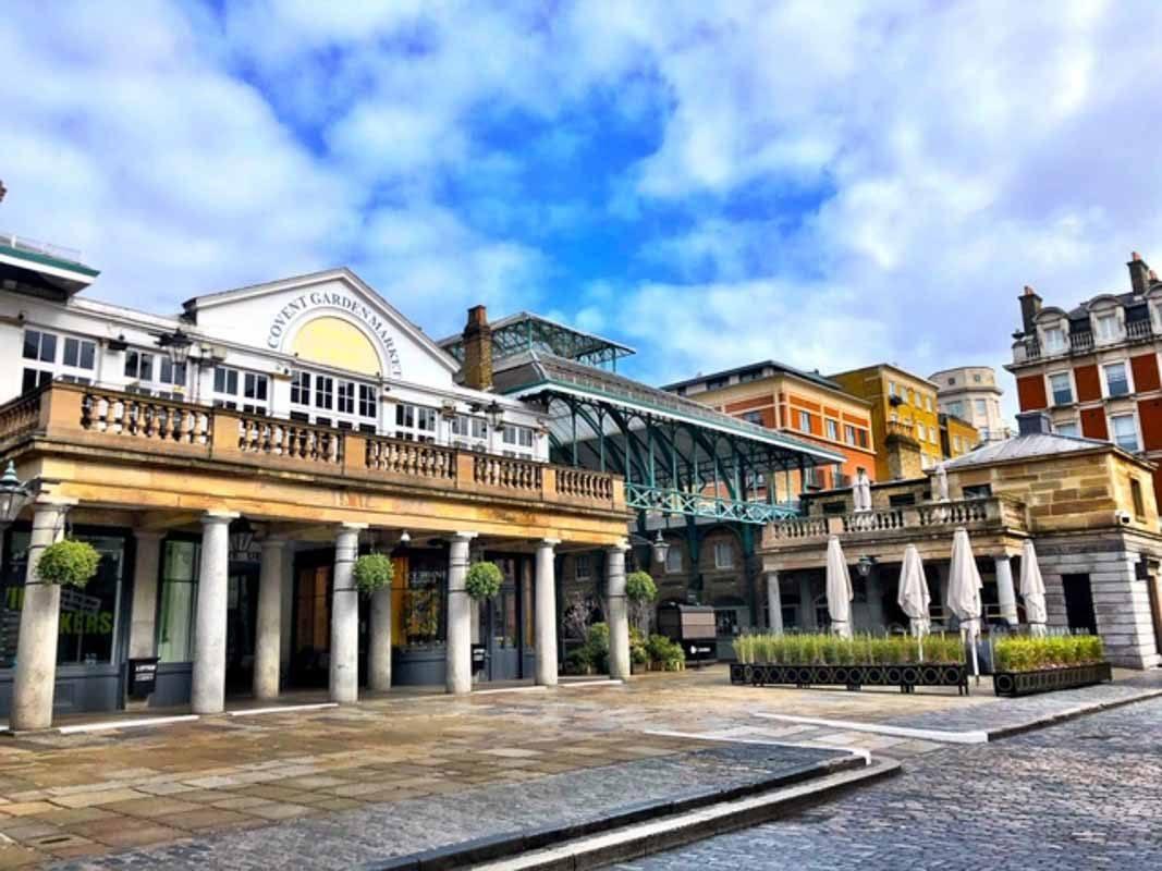 Covent Garden Market during the London Lockdown