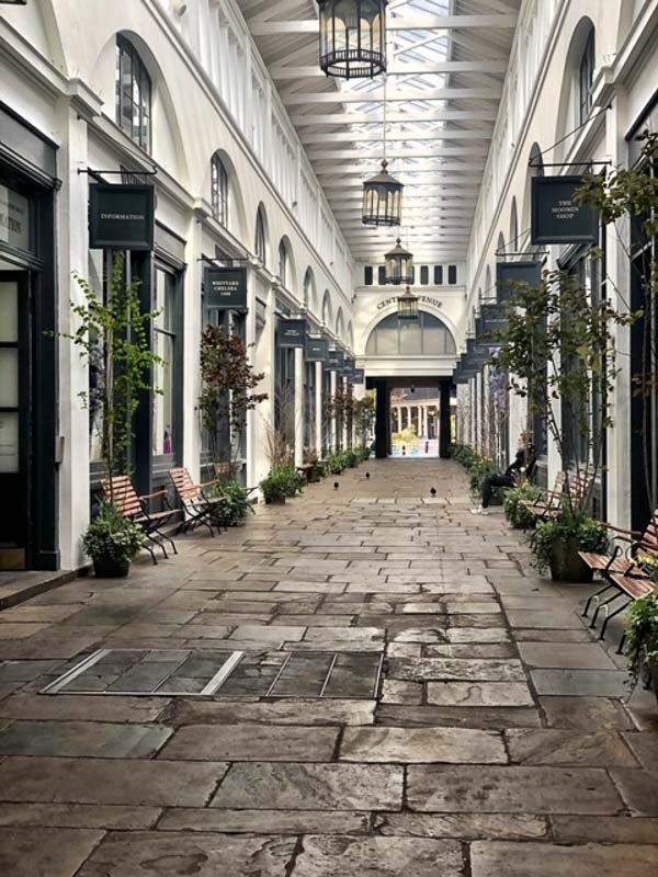 Covent Garden corridor during the London Lockdown