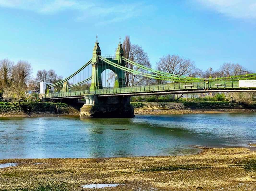 London - Hammersmith Bridge during London Lockdown 2-2.jpg