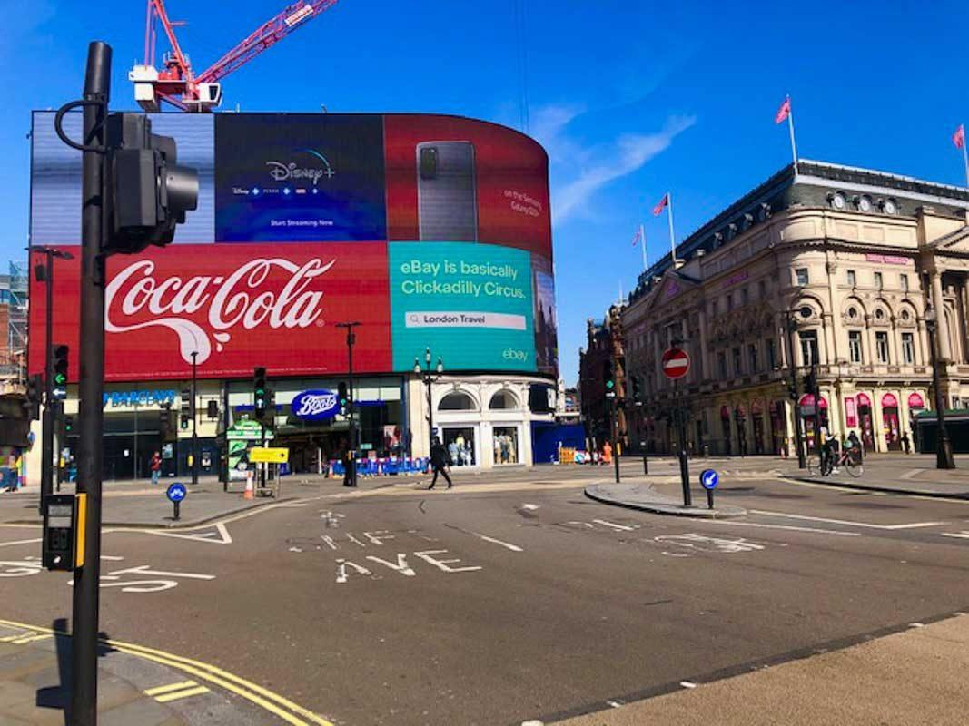 London - Picadilly Circus during London Lockdown