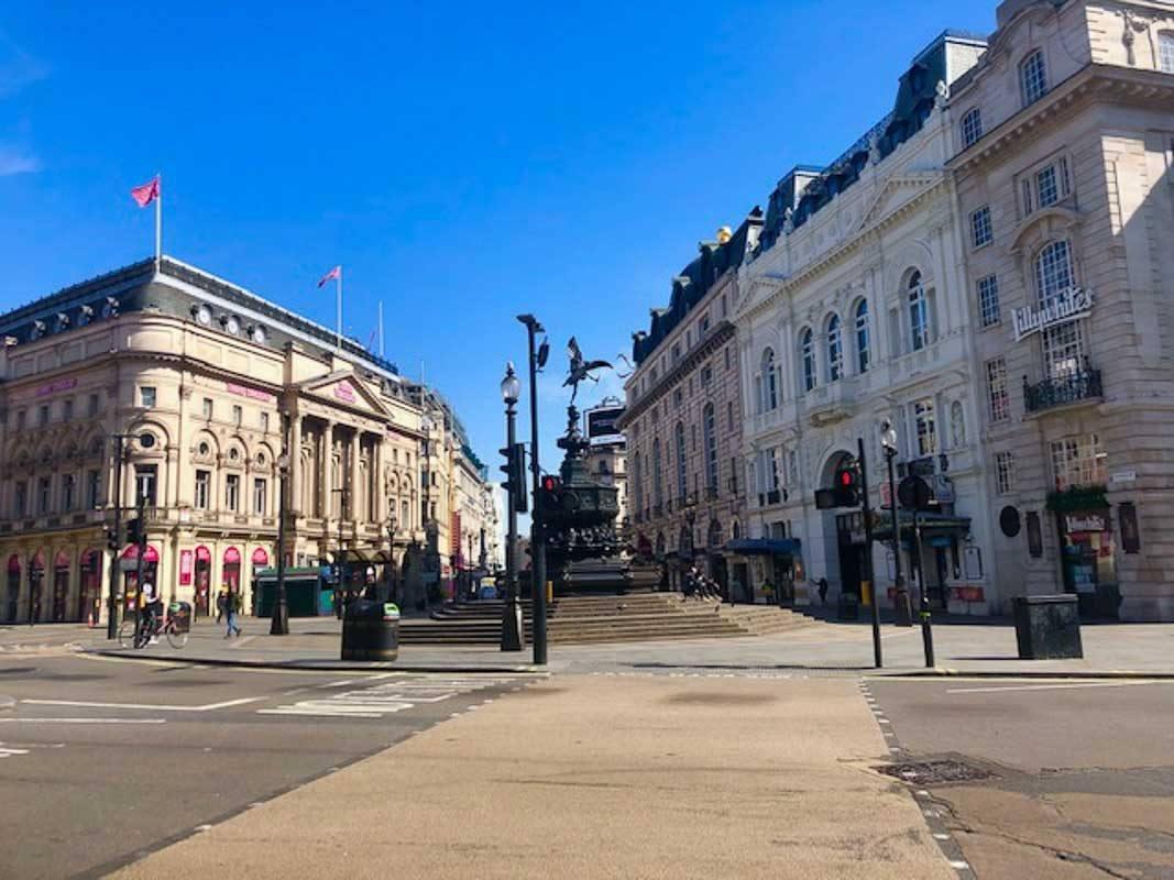 London - Picadilly Circus during London Lockdown 2