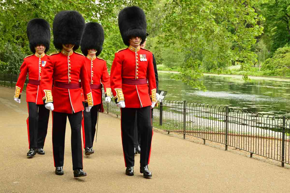 London - Queens Guards in St James Park