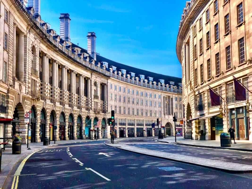 London - Regent St during London Lockdown 2