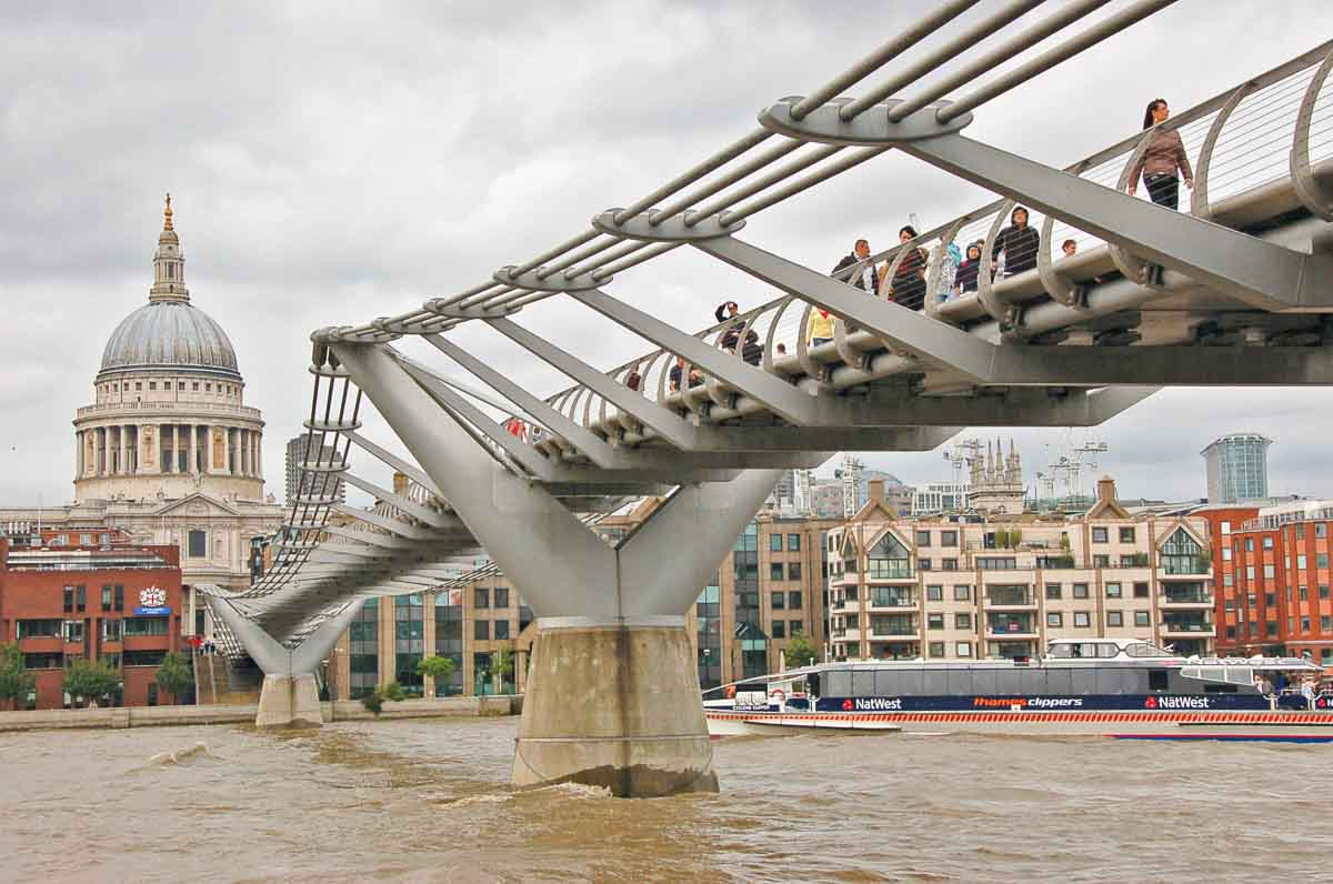 London - St Pauls and the Millenium Bridge