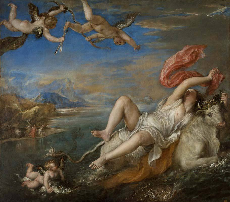 The National Gallery The Rape of Europa painting