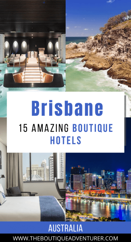 luxury hotel pool at night, sea and cliffs, bed in luxury hotel room and brisbane buildings at night
