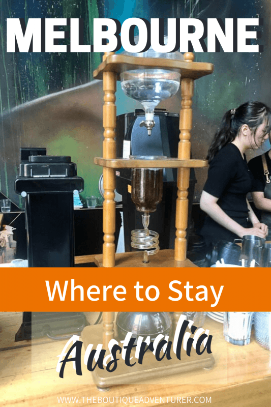 Tall drip coffee machine in a cafe
