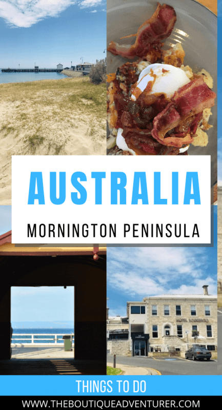 beach, view to the sea, hotel and breakfast on the mornington peninsula in Victoria Australia