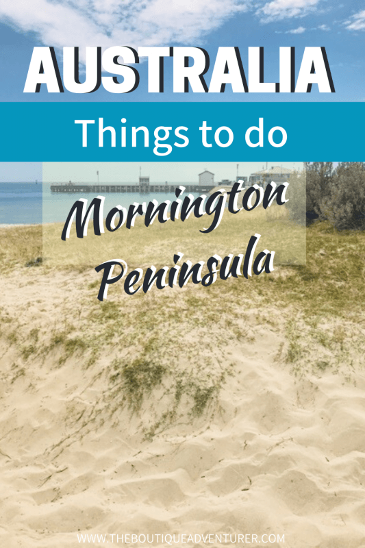 beach with sea on the mornington peninsula victoria australia