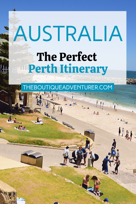 people on cottesloe beach in perth western australia