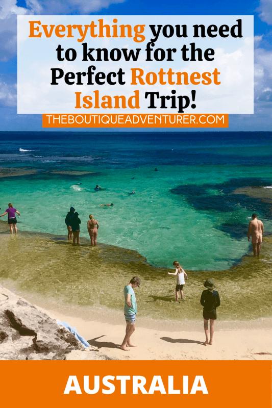 The basin beach on rottnest island perth western australia