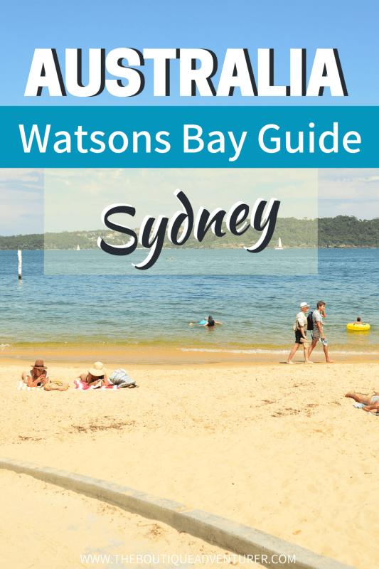 beach at watsons bay sydney australia