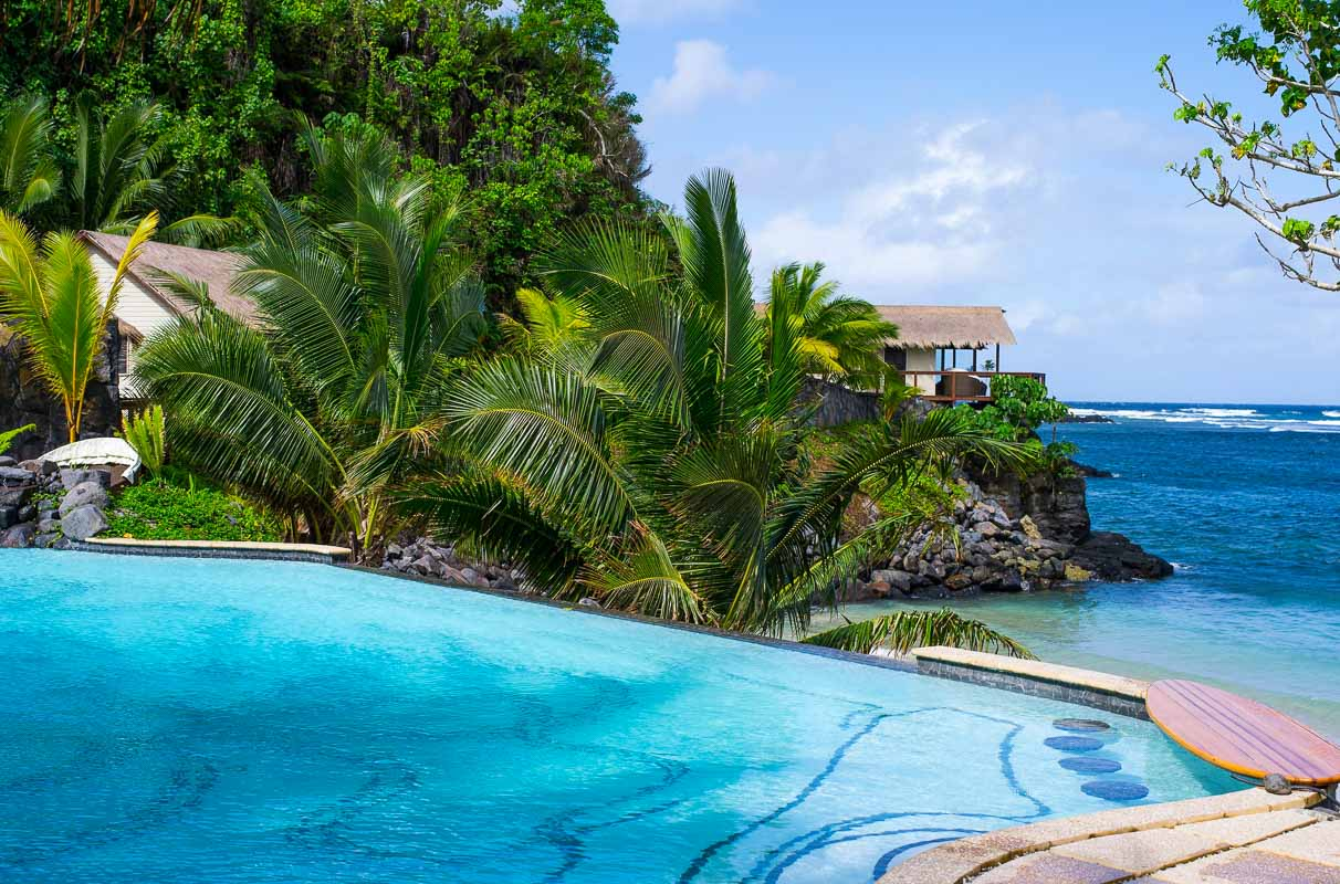 Seabreeze Samoa eternity pool and sea view