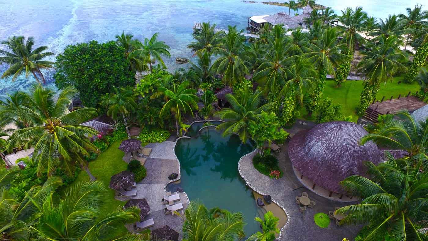 Sinalei Samoa Aerial View