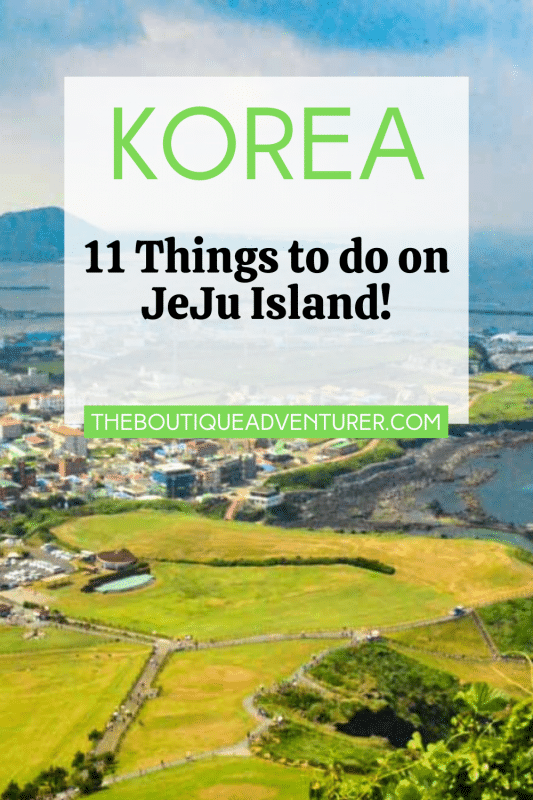 view over Jeju island south korea