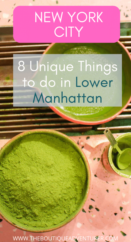 bowl of green matcha tea and matcha powder