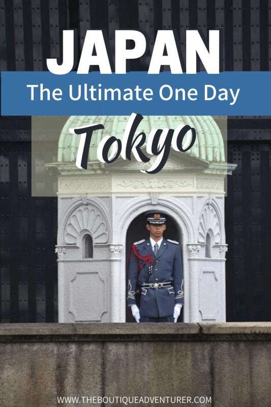 guard at imperial palace tokyo japan