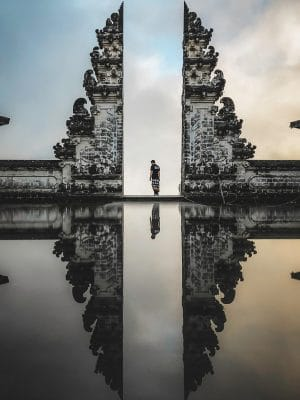 bali photo with sculpture