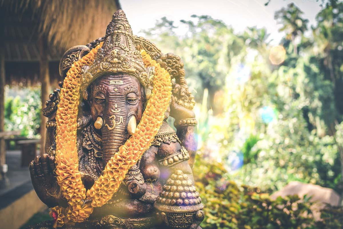 elephant statue in bali