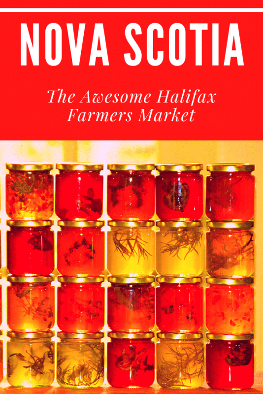 images of jellies in jars at halifax farmers market