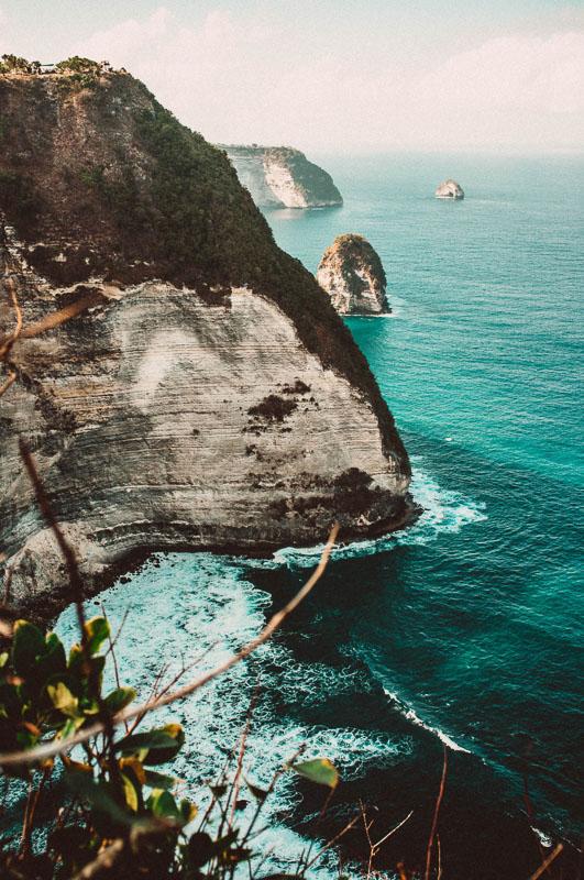 rocky coastline in bali